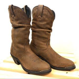 """Durango + Women's 11"""" Slouch Boot Tan"""